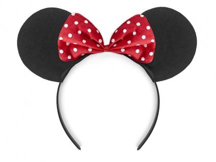 8 Minnie Maus Haarreifen mit roter Schleife