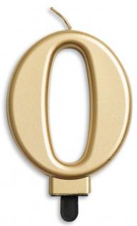 Zahlenkerze in Gold Metallic 0