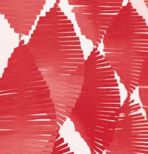 Fransen Girlande aus Seidenpapier in Rot