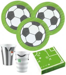 52 Teile Party Deko Set Fußball Kicker Party 16 Kinder