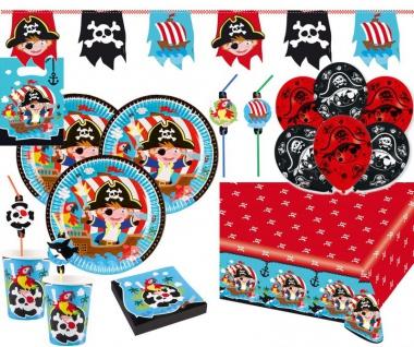 XL 60 Teile Piraten Abenteuer Party Deko Set 8 Kinder