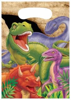 8 Dinosaurier Party Mitgebsel Tüten