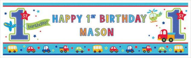 XXL Banner Erster Geburtstag Geburtstags Spaß personalisierbar
