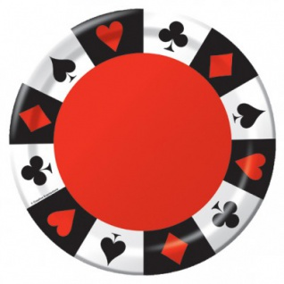 Poker Party Servier Tablett