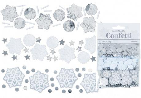 Schneeflocken und Eiskristalle Konfetti Set