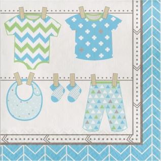 16 Servietten Baby Party Pastell Blau