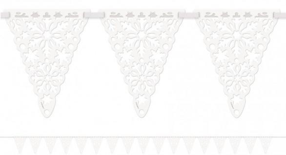 Schneesterne Wimpel Girlande - Vorschau 2