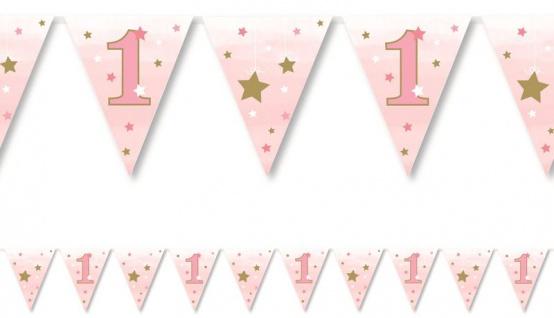 XL 42 Teile Erster Geburtstag Blinke Kleiner Stern Rosa Party Deko Set 8 Personen - Vorschau 4