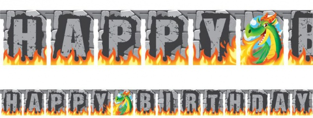 Geburtstags Girlande Feuer Drachen