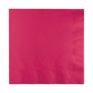 50 kleine Servietten Pink Magenta 2-lagig