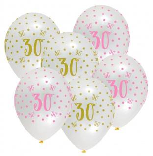 XXL 73 Teile Deluxe Pink Chic Party Deko Set zum 30. Geburtstag in Rosa und Gold Glanz für 8 Personen - Vorschau 4