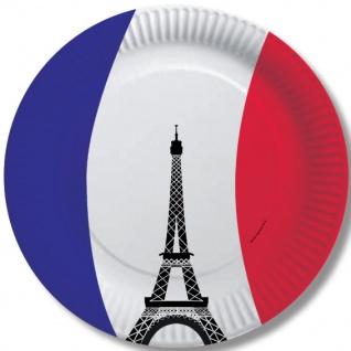 10 Papp Teller Frankreich Party Deko