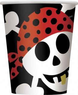 8 Papp Becher Piraten Spaß