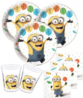 36 Teile Minions Party Deko Set für 8 Kinder