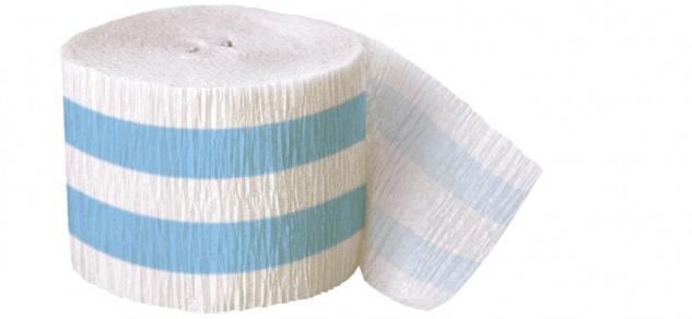 Krepp Band Streifen Hellblau