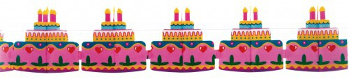 Girlande Geburtstagstorte