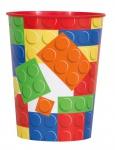 1 Stück Bausteine Plastik Becher