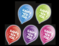 5 LED Ballons Happy New Year