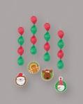 4 hängende Weihnachtsgirlanden