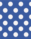 8 Partytüten blaue Punkte