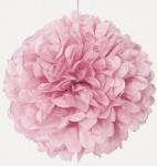 1 großer Papier Dekoball Baby Rosa
