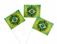 Brasilien Papier Fähnchen 1 Stück