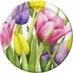 8 Teller Frühlings Tulpen