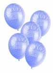 5 Geburtstags Luftballons Blau ø30cm