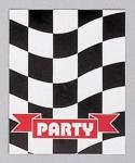 8 Einladungskarten Schwarz Weiß Formel 1 Party
