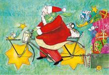 Weihnachtspostkarte Weihnachtsmann