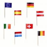 50 Party Picker Länder Fähnchen Europa