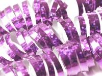 Glitzer Luftschlangen Rosa Metallic - 1 Rolle a 18 Stück