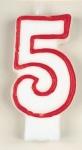 Fünf Zahlenkerze