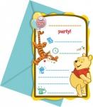 6 Winnie Puuh Sweet Tweets Einladungskarten