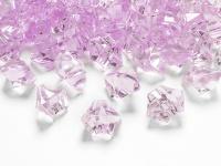 50 Deko Plastik Eis Kristalle rosa - 21 x 25 mm Durchmesser