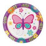 8 kleine Teller Schmetterling im Garten