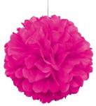 1 großer Papier Dekoball in Neon Pink