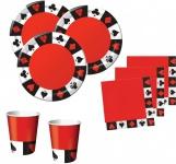 32 Teile Poker Motto Party Basis Deko Set 8 Personen