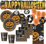 XXL 57 Teile Halloween Deko Set Kürbis 8 Personen