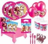 Mia and Me großes 84 Teile Party Deko Komplett Set für 6 - 8 Kinder