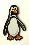 Schwarzer Pinguin - Lesezeichen-Clip