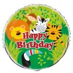 Geburtstags Folienballon Kinder Safari