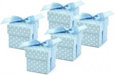10 Karton Boxen hellblau für die Tischdeko, Gastgeschenke