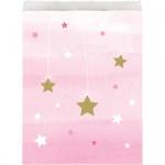 10 Papier Tütchen blinke kleiner Stern in Rosa