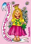 Fensterbild Postkarte Prinzessin