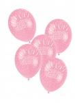 5 Geburtstags Luftballons Rosa ø30cm