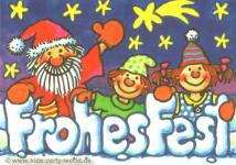 Weihnachtskarte Nikolaus mit Kindern