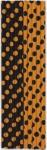 10 Papier Trinkhalme orange schwarze Punkte