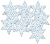 10 Pappschilder Schneeflocken