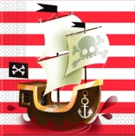 20 Servietten Piraten Jolly Roger Totenkopf